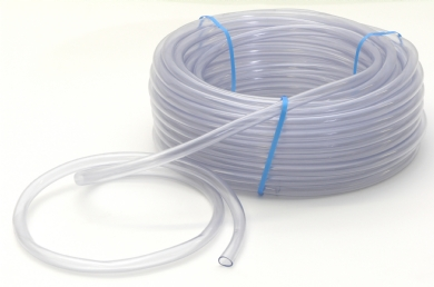Click to enlarge - Crystal clear PVC hose, unreinforced for low pressure applications. This hose is made from compounds approved by the FDA and BGA and approved for food applications.