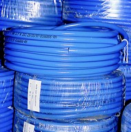 Click to enlarge - Highly flexible PVC hose for mainly air applications. Lightweight yet capable of handling 10 bar pressures. This hose has an anti-scuffing agent added during manufacture to give a long lasting service.